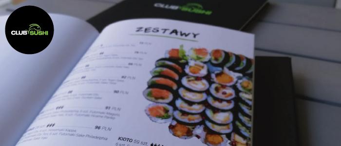 Menu Club Sushi